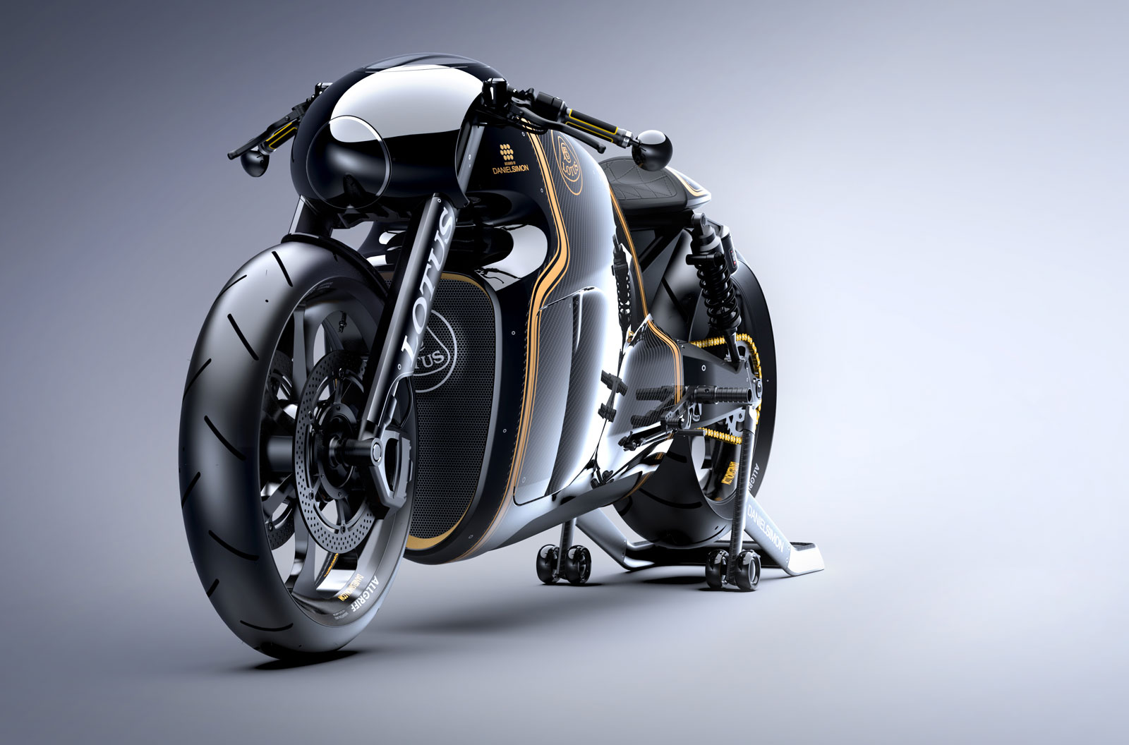 The Lotus C-01 Motorcycle by Daniel Simon